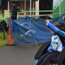 Female Rider Athlete Cheering