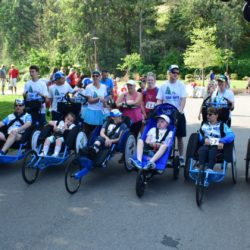 Team Hoyt Coeur d'Alene Runner and Rider Athletes Preparing for Race