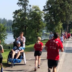 Runner Athlete Racing Run #271 with Rider Athlete