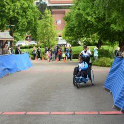 Team Hoyt Coeur d'Alene Members Crossing Finish Line