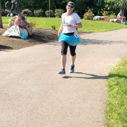 Runner Athlete Running in Race Course in Coeur d'Alene