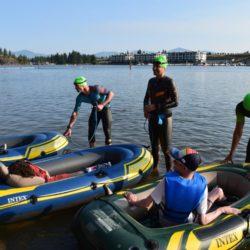 Swimmer Athletes Preparing Rider Athletes