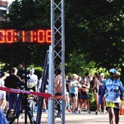 Runner Athlete Standing at Race Starting Line