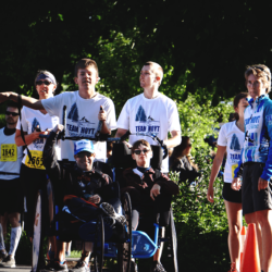 Team Hoyt Coeur d'Alene Members Waiting to Race