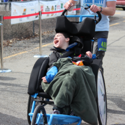 Rider Athlete Smiling While Crossing Finish Line